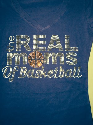 Image of The Real Moms Of Basketball (Short Sleeve Baby Doll Tee)