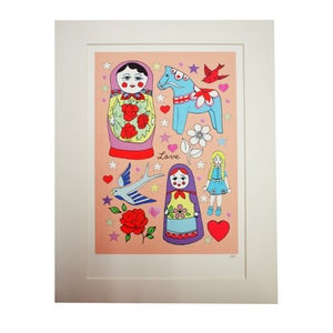 Image of Hand Decorated Tattoo Prints