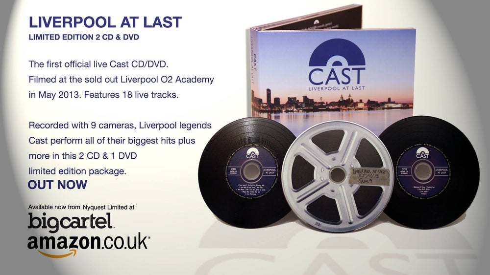 """Image of Cast Live """"Liverpool At Last"""" CD/DVD"""