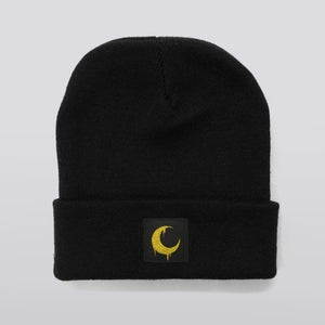 Image of Black Moon Patch Beanie