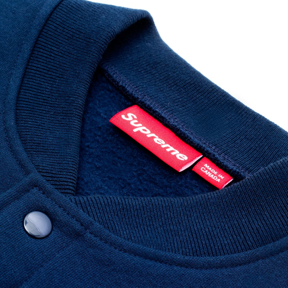 Image of SUPREME SMALL BOX LOGO SNAP FRONT JACKET