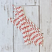 Image of Heart Paper Straws