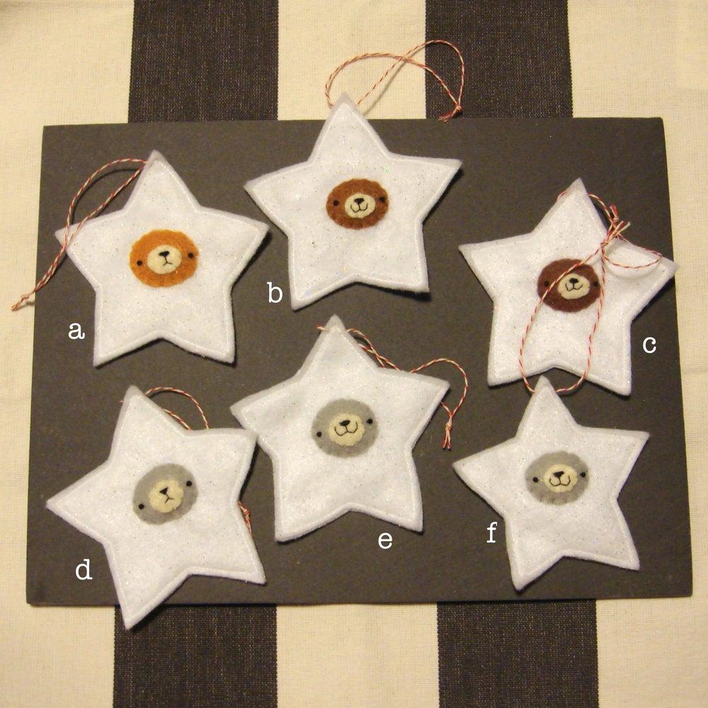 Image of incognito bear ornament // stars