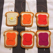 Image of toast ornaments -- made to order