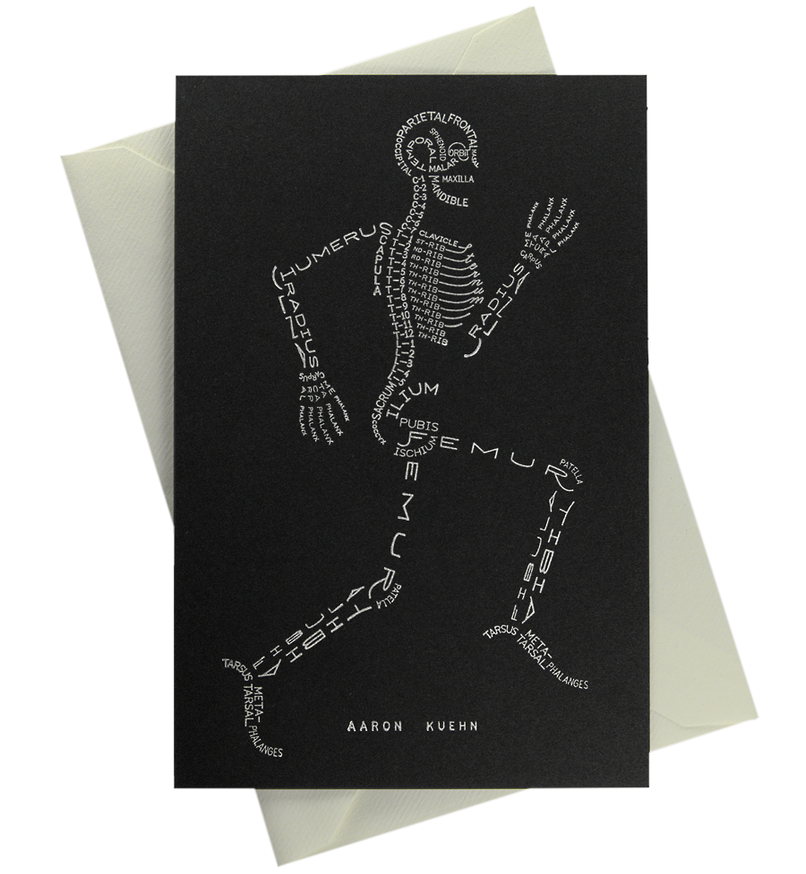 Image of Skeleton Typogram - Mini Print