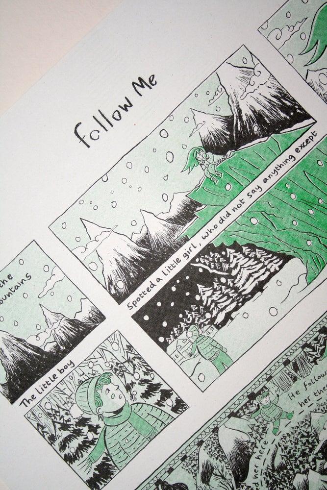 Image of 'Follow Me' Risograph Print