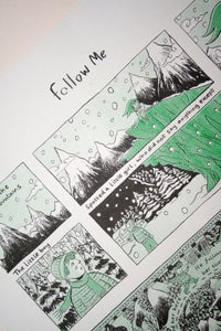 Image of 'Follow Me' Risograph Print