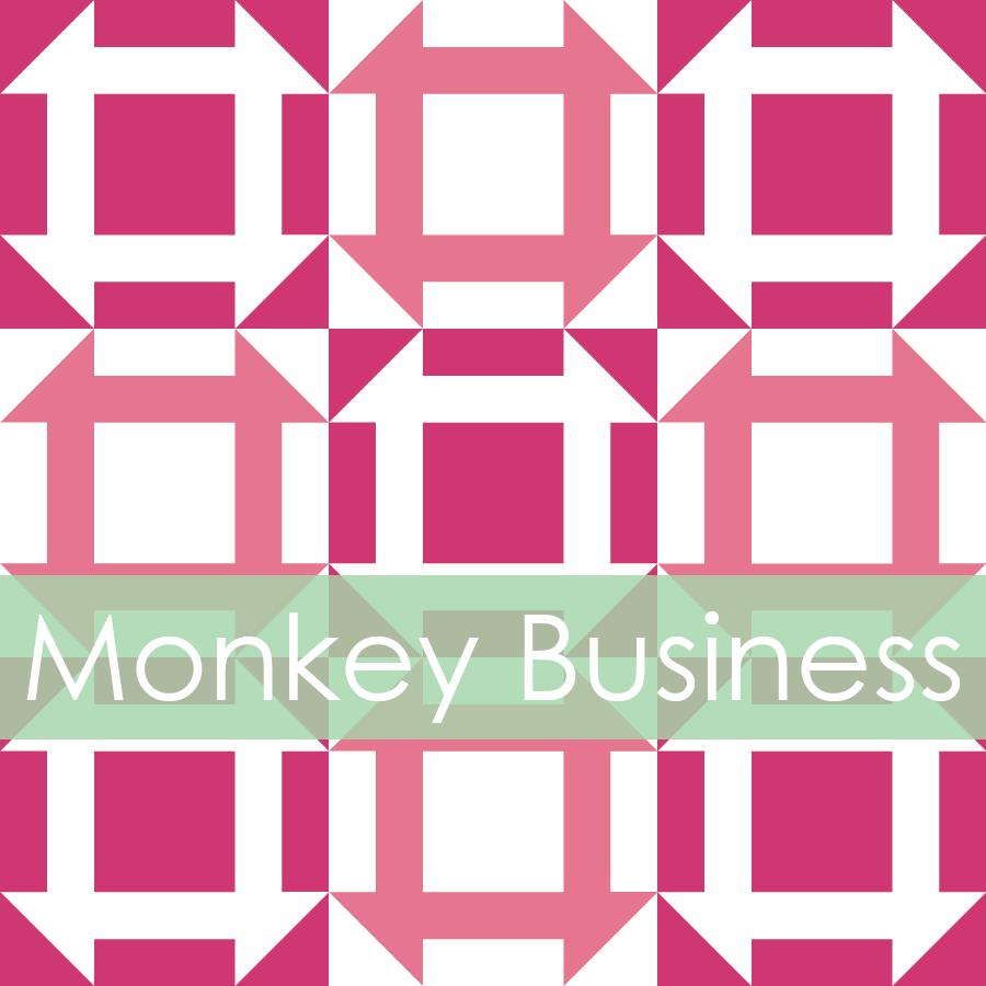 Canoe Ridge Creations — Monkey Business Mini Quilt #106, PDF Pattern : monkey business quilt pattern - Adamdwight.com