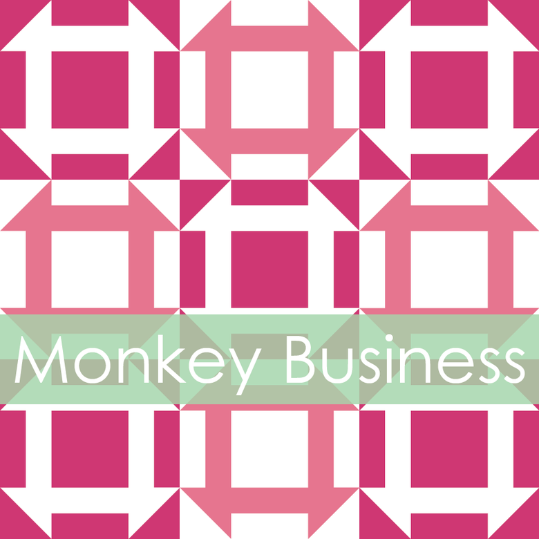 Image of Monkey Business Mini Quilt #106, PDF Pattern