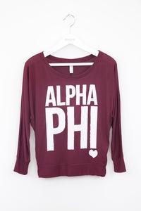 Image of Alpha Phi Long Sleeve Tee