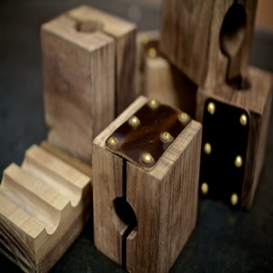Image of Academy Tube Block Set - Limited Edition Black Walnut