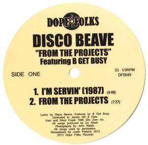 "Image of DISCO BEAVE featuring B GET BUSY ""FROM THE PROJECTS"""