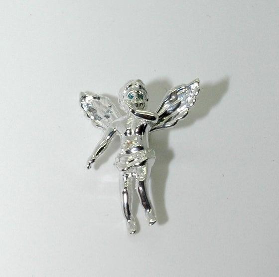 Image of Nano 925 silver Blue Eyes Baby Angel