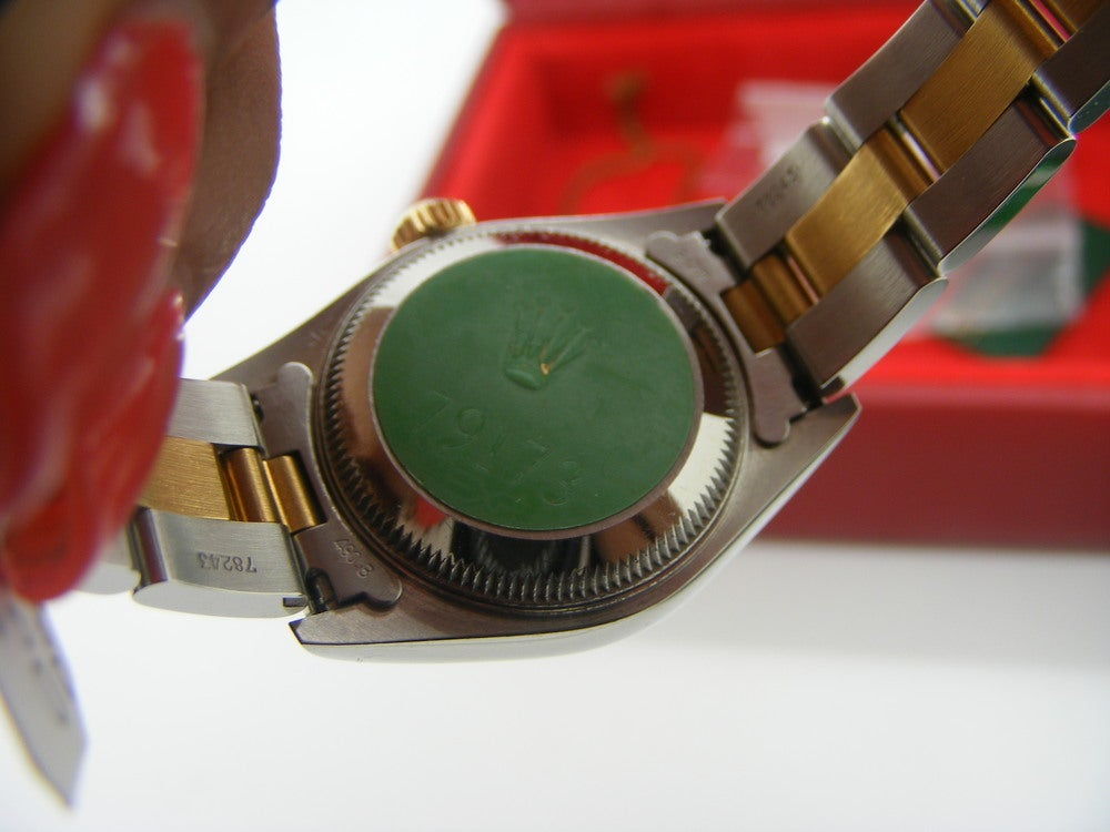 Image of Ladies Oyster Perpetual Date Just Two Tone