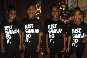 Image of JUST GWAAN DO IT KIDS T-Shirt - OG BLACK