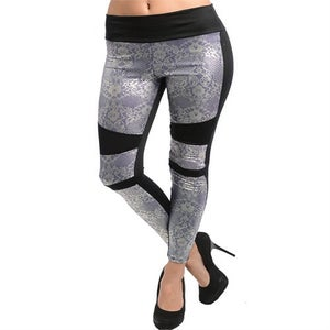 Image of Black and silver leggings