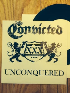 """Image of CONVICTED Unconquered 7"""" TEST PRESS (pre-Harms Way)"""