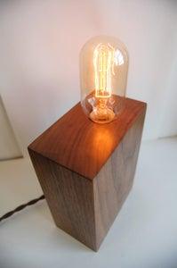 Image of Rectangular Wood Lamp: Cherry