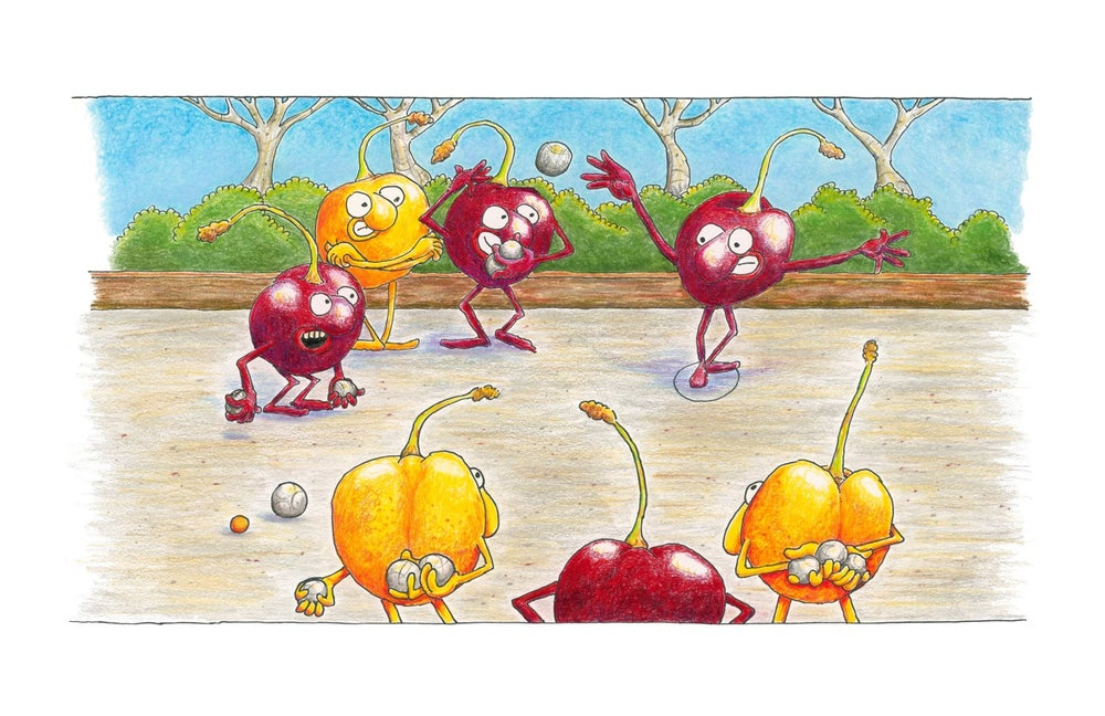 "Image of ""Zee Boules of Cherries... eez Like Life, Oui?"""