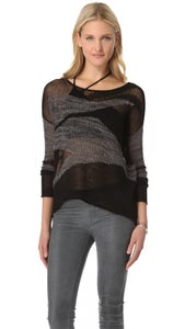 Image of HELMUT LANG MERGING TEXTURE SWEATER