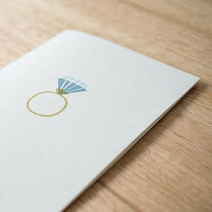 Image of Diamond Ring Greeting Card