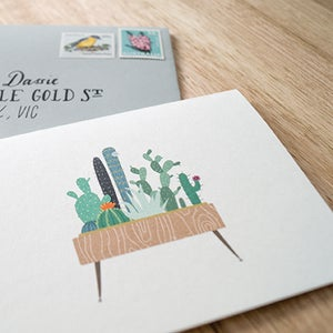 Image of Cactus Greeting Card