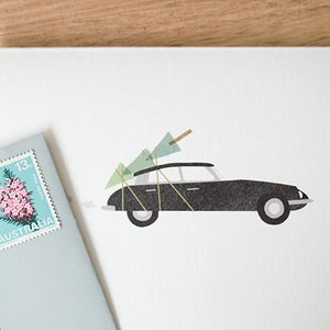 Image of Christmas Citroen Greeting Card