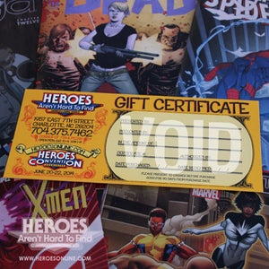 Image of HEROES AREN'T HARD TO FIND GIFT CERTIFICATE