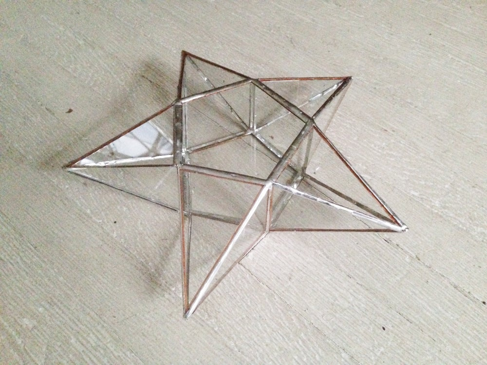 Image of 5-Pointed Stained Glass Star Tree Topper