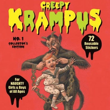 Image of Krampus Sticker Book: 72 Reusable Stickers for Naughty Boys and Girls of All Ages