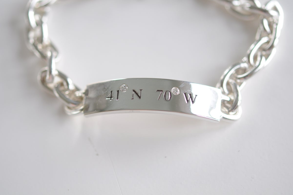 Nantucket diamond id bracelet nantucket by the sea for Nantucket by the sea