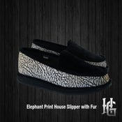 Image of Homiegear Elephant Print House Slipper with Fur