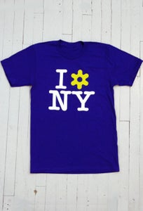 Image of MEN'S I LOVE NY T-SHIRT IN ROYAL BLUE