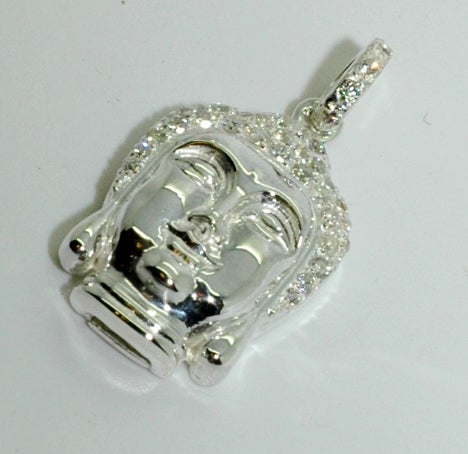 Image of Micro Diamond Buddha Pendant