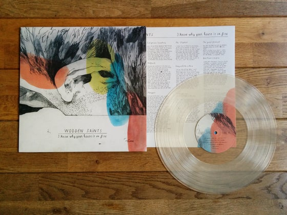 Image of ''I Know Why Your House Is On Fire'' LP on 12'' 180 grams transparant vinyl