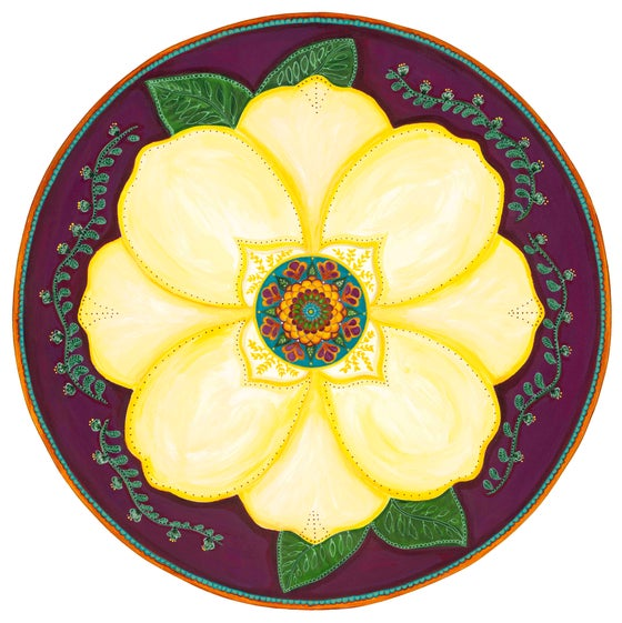 "Image of ""Support and honour""-Magnolia Meditation Mat"