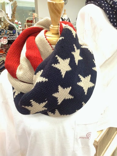 Image of American Flag Infinity Scarf
