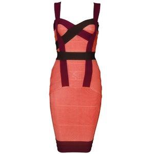 "Image of ""Bethany"" Multicolor Coral Bandage Bodycon Pencil Midi Dress"