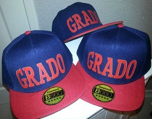 Image of GRADO Snapback Cap (Navy and Red)