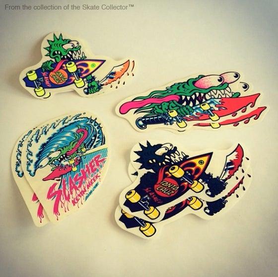 "Image of Keith Meek ""Slasher"" Santa Cruz Skateboards Sticker"