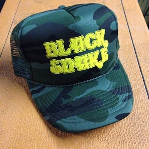 Image of Black Snake camo trucker hat