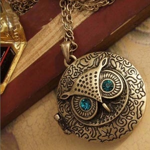 Image of Owl Locket Necklace, SW236