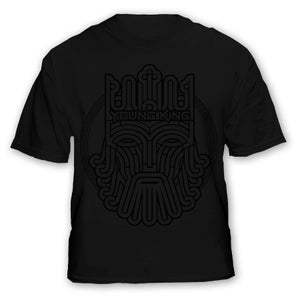 Image of Young King - Black on Black Tee