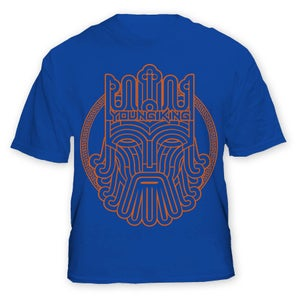 Image of Young King - Orange on Blue Tee