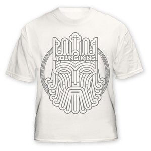 Image of Young King - Grey on White Tee