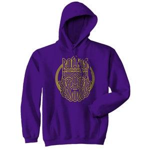 Image of Young Kings - Yellow on Purple Hoodie
