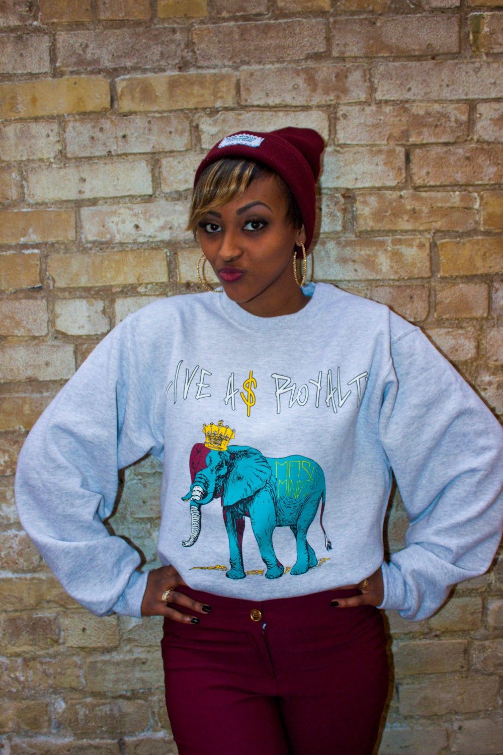 Image of LIVE A$ ROYALTY - BLUE ELEPHANT '15 SWEATERS