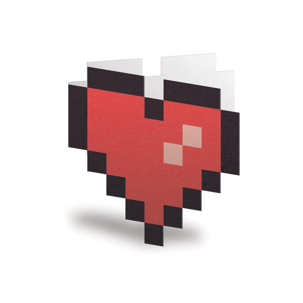 8-Bit Pixel Heart Card / Octember