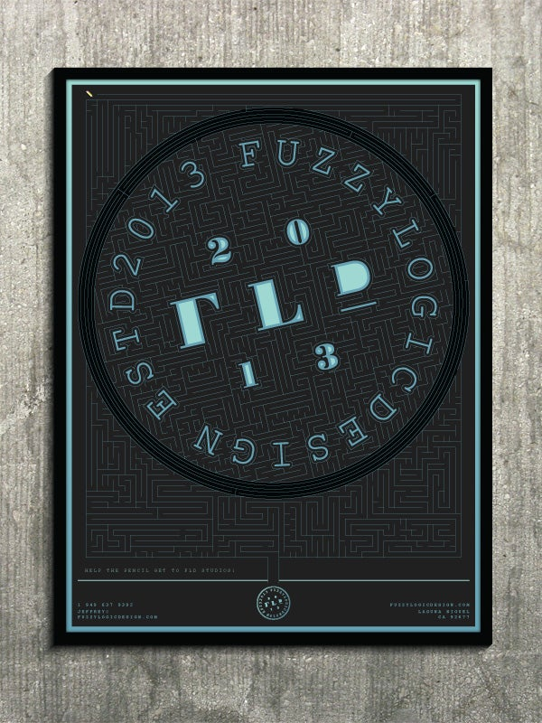 Image of 18x24 FLD Puzzle Poster, Maze