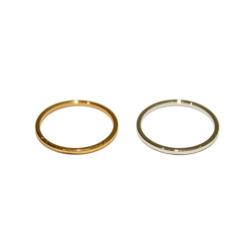 Image of SIMPLE BAND MIDI RING - SET OF 4